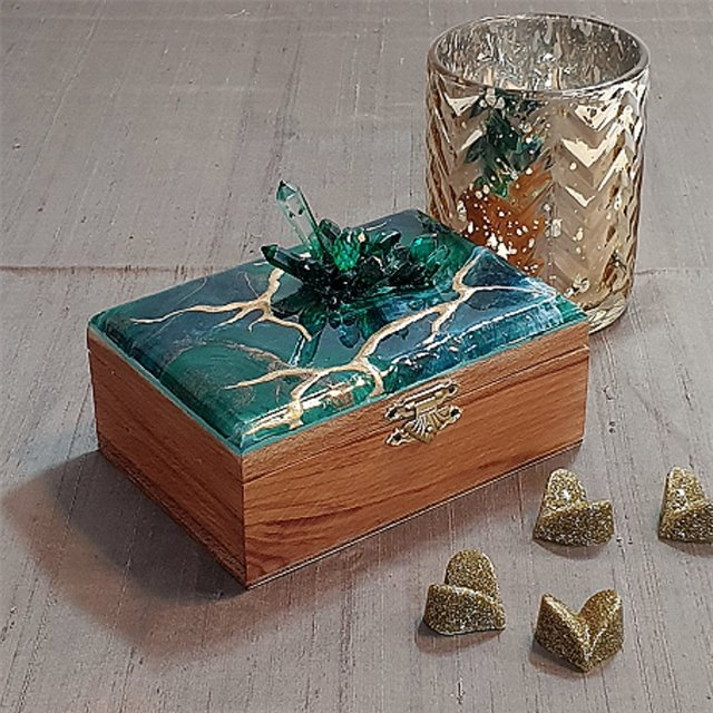 Resin Wooden Box-Corporate Gift