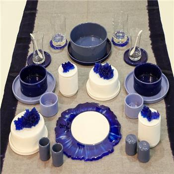 Cobalt Blue Cerasin  Breakfast Set