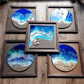 Resin Beach Painting- Corporate Gift