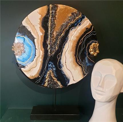 Moonstone Geode Stand
